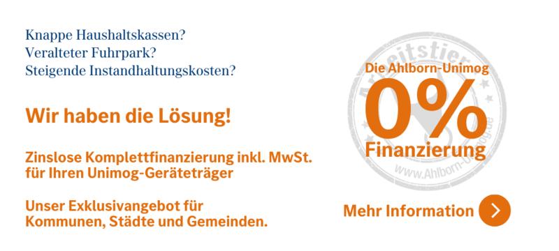 Ahlborn-Unimog 0 %-Finanzierung